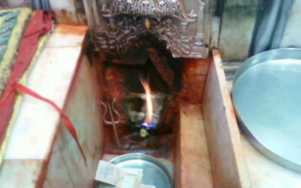Jwalamukhi Temple Flame