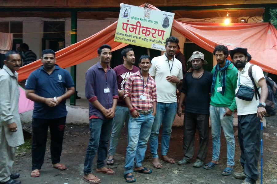 With Shrikhand Seva Samiti Members